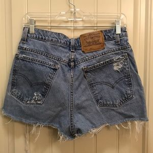 High waist distressed Levi's
